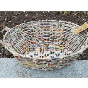 Trader Joe's Handwoven Recycled Newspaper Basket